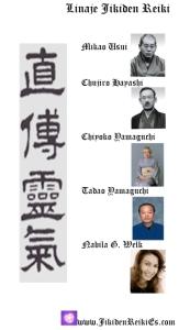 linage lineage Jikiden Reiki España, shihan maestra Nabila G. Welk